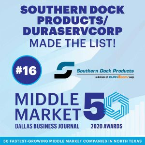 Southern Dock Products/DuraServ – Named in Middle Market 50 List